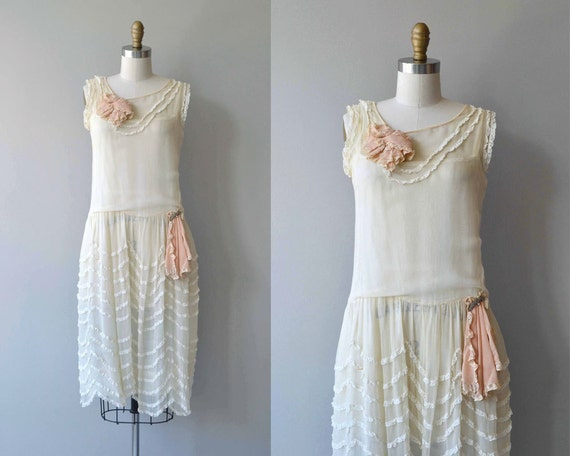 Cou Cou dress | vintage 1920s dress | silk 20s wed