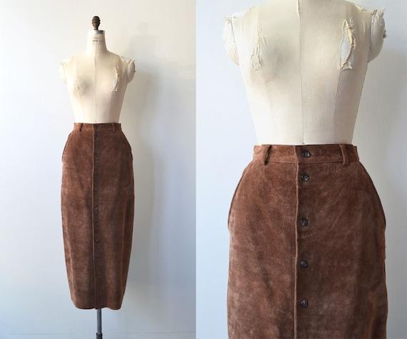 Ralph Lauren suede skirt | long suede skirt | butt