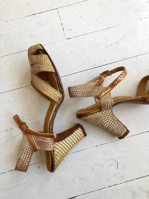 Gold Mesh heels | 1930s shoes | vintage 30s shoes - image 4