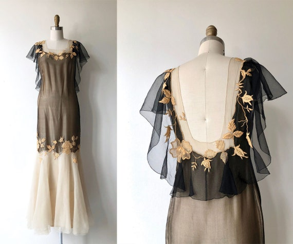Darana silk dress | 1930s dress | long 30s dress