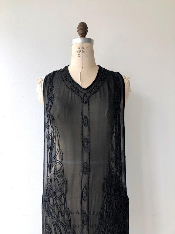 Revival beaded silk tabard | 1920s beaded dress |… - image 6