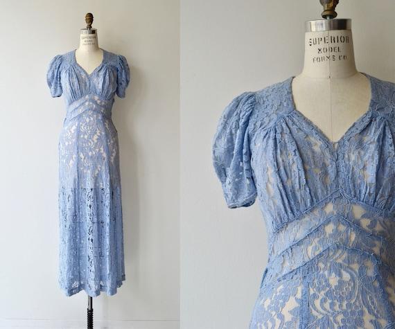 Charente lace dress | vintage 1930s dress | 30s la