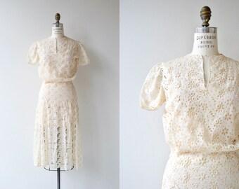 Annecy dress | vintage 1930s dress | lace 30s dress