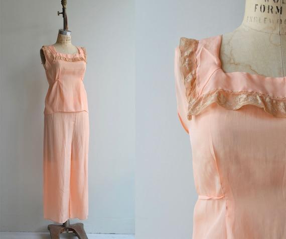 Gracette silk pajamas | 1930s silk lingerie | 30s