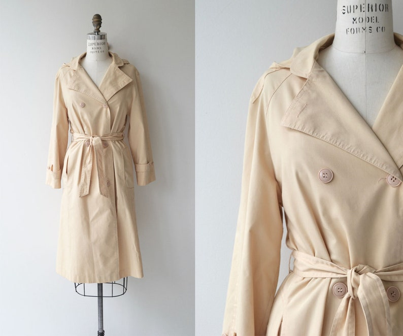 Classic Trench coat  vintage 1970s trenchcoat  double image 0