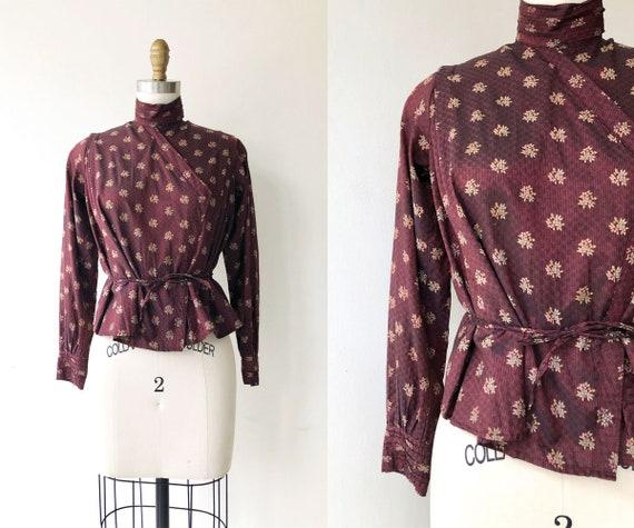 Prairie Calico 1900s blouse | antique 1800s blouse
