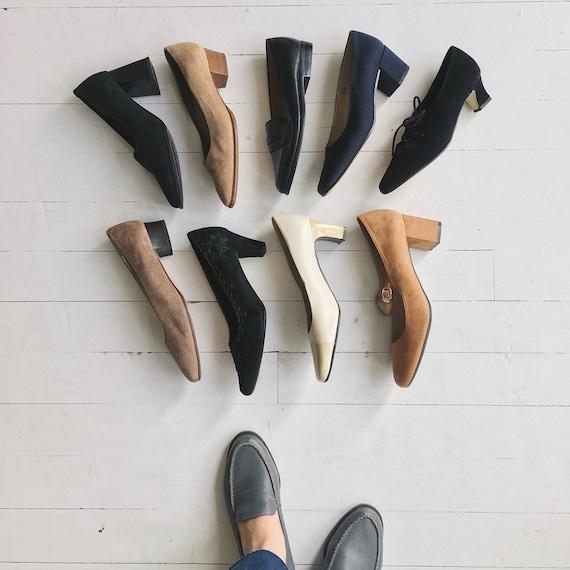 Soutache heels | vintage 1980s black pumps | blac… - image 7