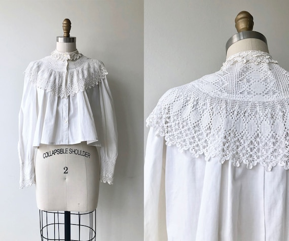 Tyndell cotton blouse | Victorian blouse | antique
