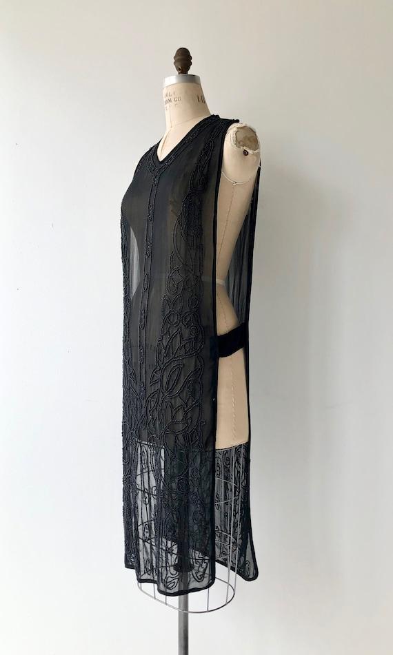Revival beaded silk tabard | 1920s beaded dress |… - image 7