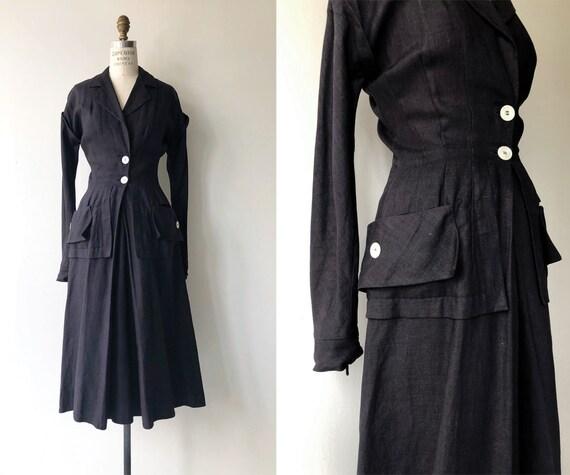 New Look linen coat dress | 1950s linen coat | vin
