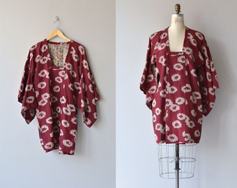 Ikat kimono jacket • silk kimono blouse • vintage short silk kimono