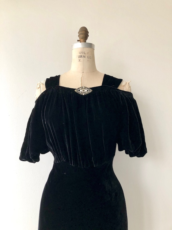 Aphaea silk velvet gown | 1930s silk velvet dress… - image 8