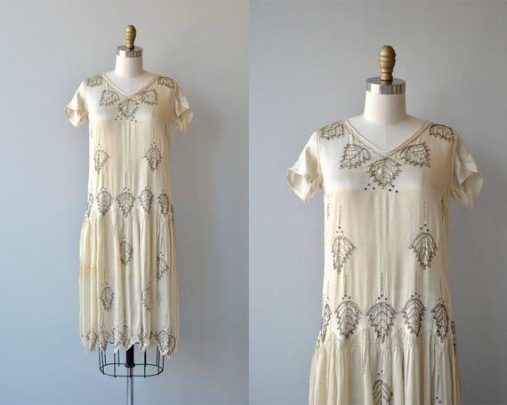 Starla beaded dress   vintage 1920s dress   beaded