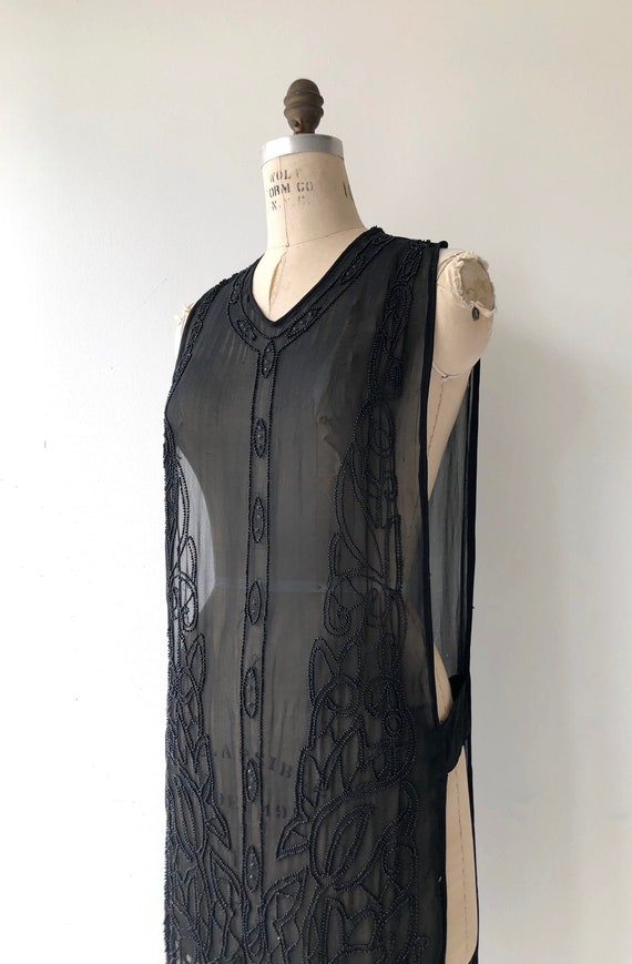 Revival beaded silk tabard | 1920s beaded dress |… - image 9
