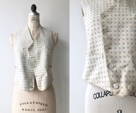 Edwardian embroidered vest | 1900s vest | antique