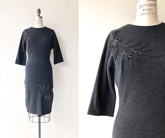 Night Mirage dress   1960s wool knit dress   60s k