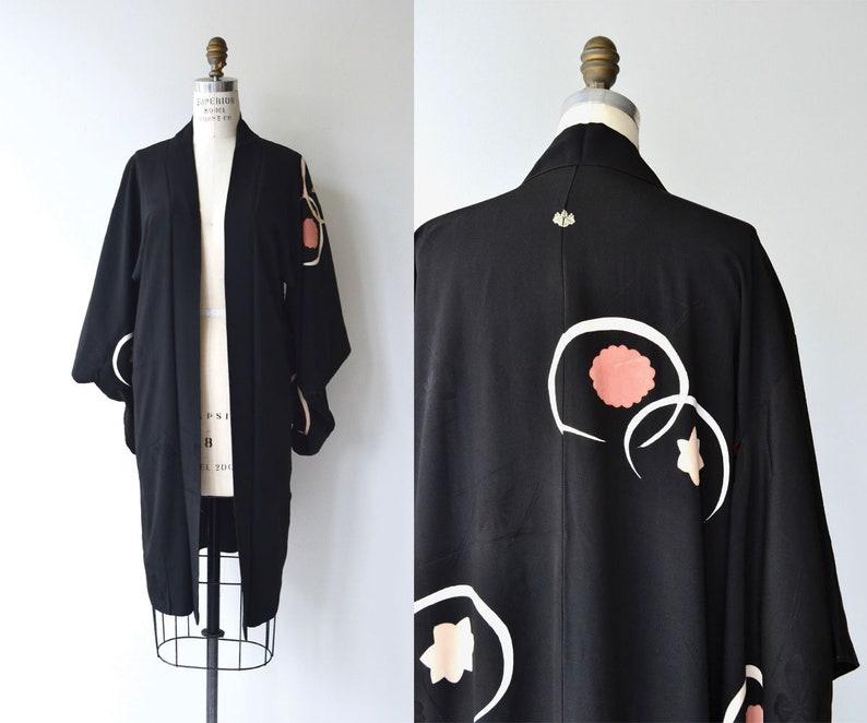 Uchū silk haori  1930s silk kimono  short silk kimono jacket image 0