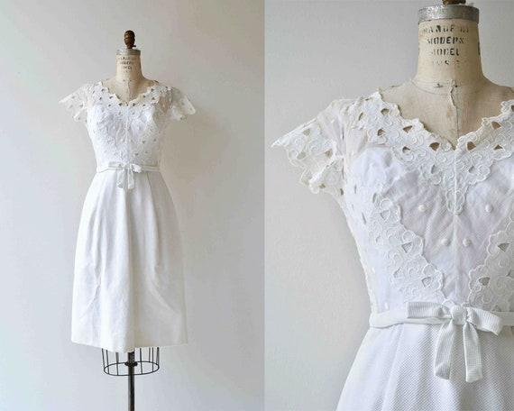 Angel Eyes Kleid Jahrgang 1950 Kleid weiße Spitze 50er
