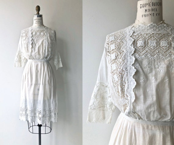 Bolton Road dress | 1910s Edwardian dress | white