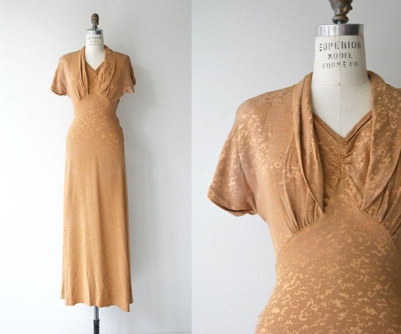 Honey Pot dress  long 1930s dress   vintage 30s dress image 0