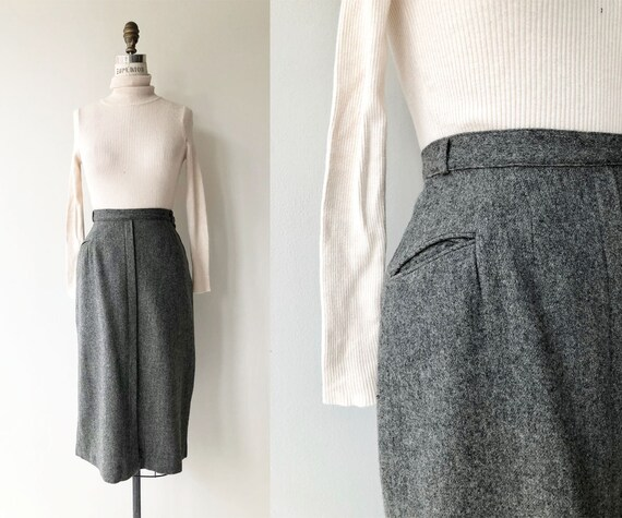Pepper wool pencil skirt | 1950s wool skirt | vint