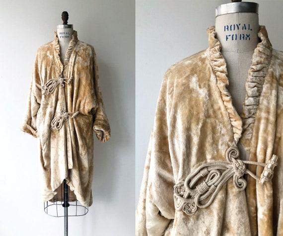 Doyenne silk velvet coat | 1920s coat | silk velve