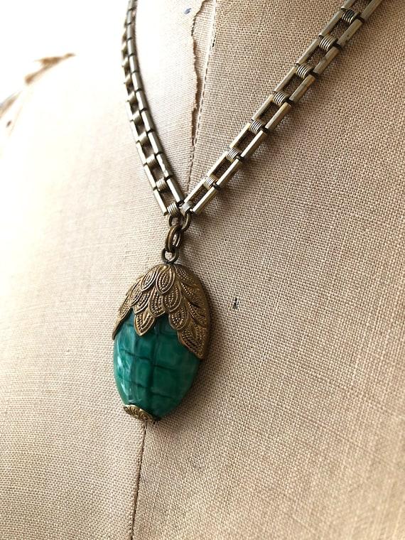 vintage 1930s necklace | 30s glass necklace | 193… - image 10