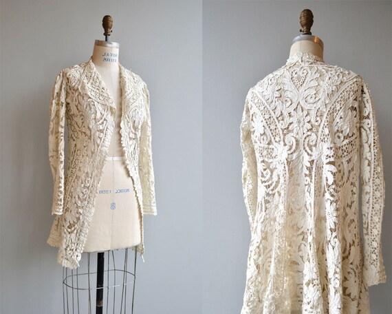 Battenberg lace jacket | 1910s Edwardian tape jack
