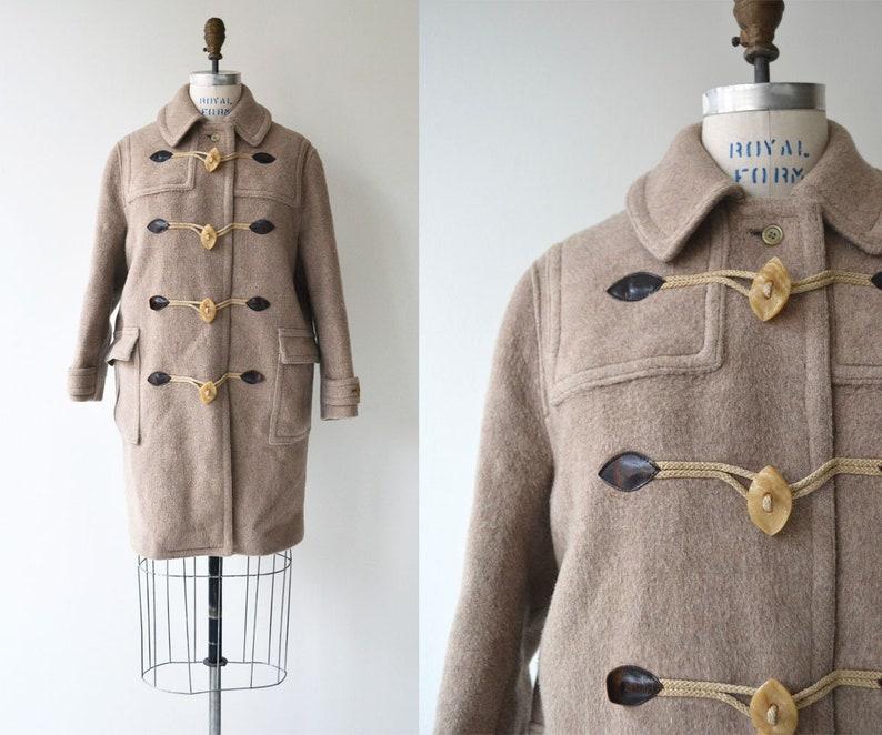Lodenfrey toggle coat  1950s wool duffle coat  50s toggle image 0