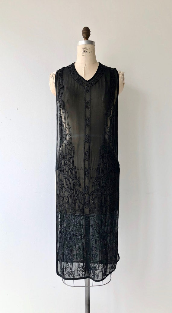 Revival beaded silk tabard | 1920s beaded dress |… - image 5