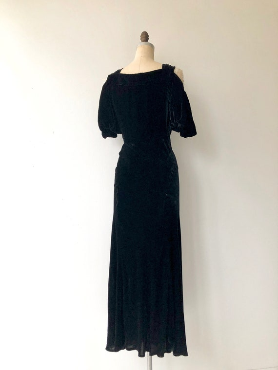 Aphaea silk velvet gown | 1930s silk velvet dress… - image 6