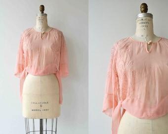 Cybelle blouse | vintage 1920s blouse | silk chiffon 20s blouse