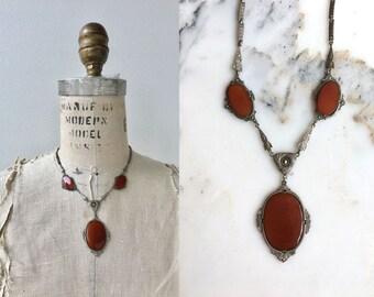 Vizcondeza necklace | antique 1920s carnelian necklace | vintage 20s necklace