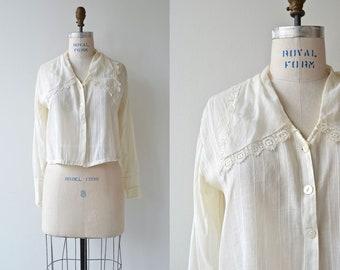 Nithsdale blouse | antique Edwardian blouse | cotton 1910s shirtwaist