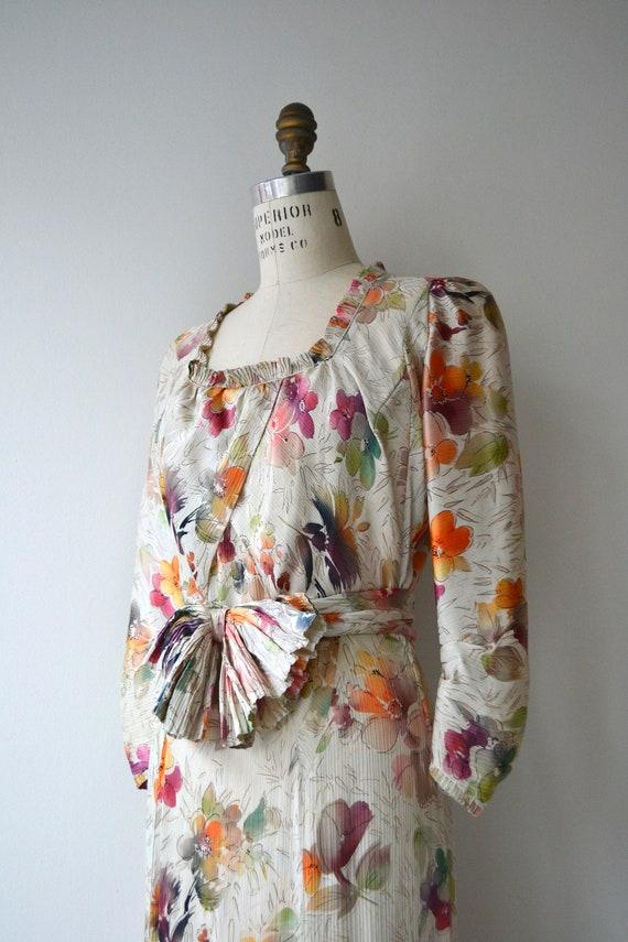 Lark House silk dress | vintage 1930s floral dres… - image 3