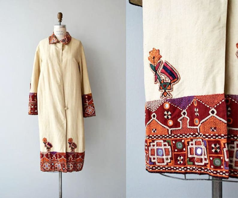 Shisha Embroidered Jacket coat  1920s silk embroidered coat  image 0