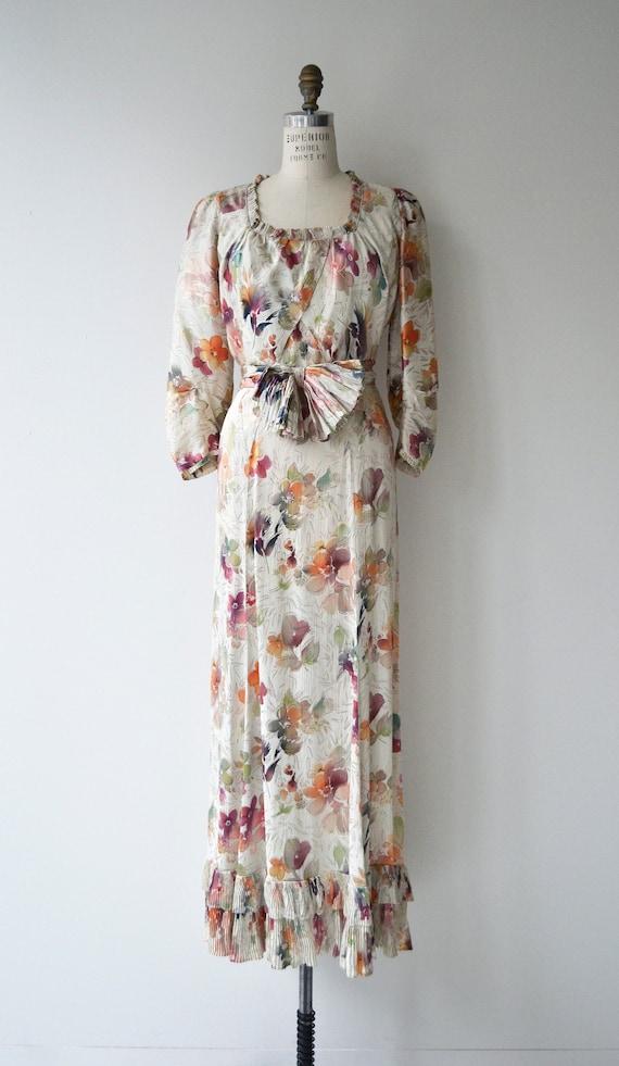 Lark House silk dress | vintage 1930s floral dres… - image 2
