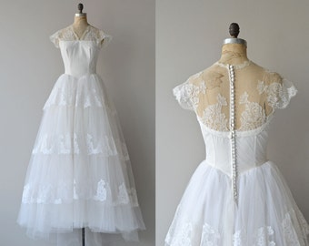 Aurora Musis gown | vintage 1950s wedding gown • lace 50s wedding dress