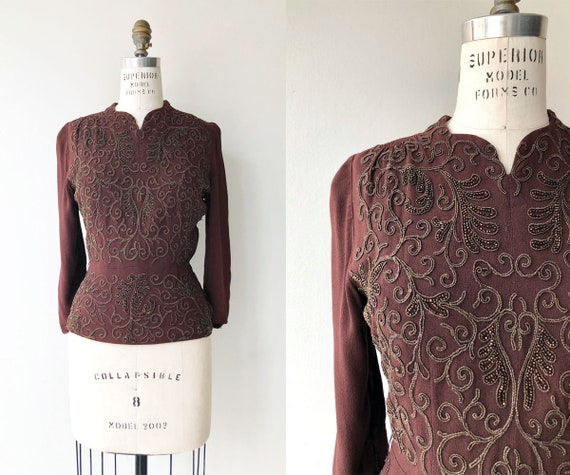 Endymion blouse | 1930s beaded blouse | 30s blouse