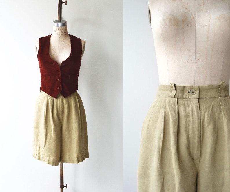 Aquascutum trouser shorts  vintage high waisted shorts  image 0