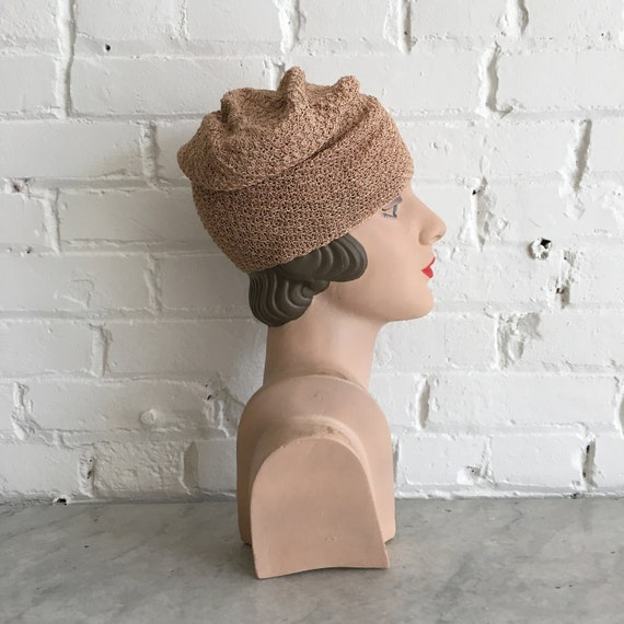 Rare 1920s knit cloche | antique 20s knit hat | s… - image 3