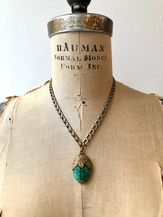 vintage 1930s necklace | 30s glass necklace | 193… - image 2