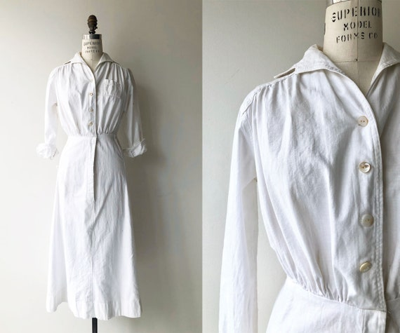 Nurse Issue 1930s dress | vintage 30s workwear dre