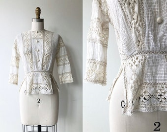 Lytton Road blouse   1900s lace blouse   Edwardian blouse