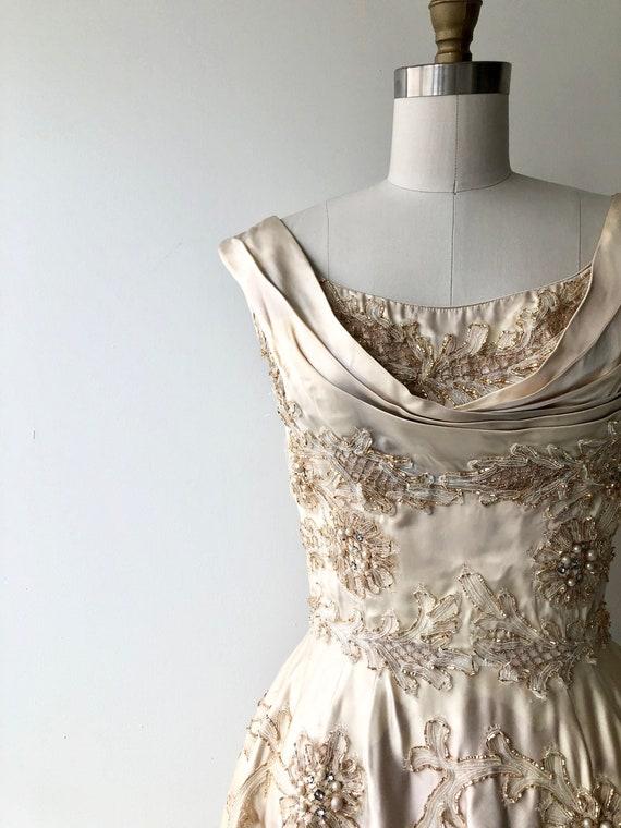 Ceil Chapman dress | 1950s designer dress | 50s p… - image 5