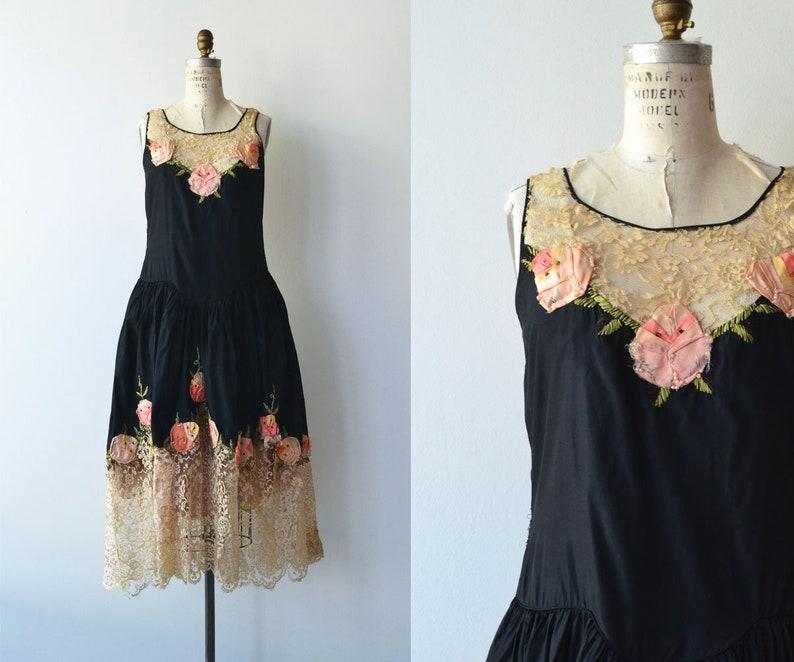Robe de Style dress  1920s silk dress  vintage 20s dress image 0