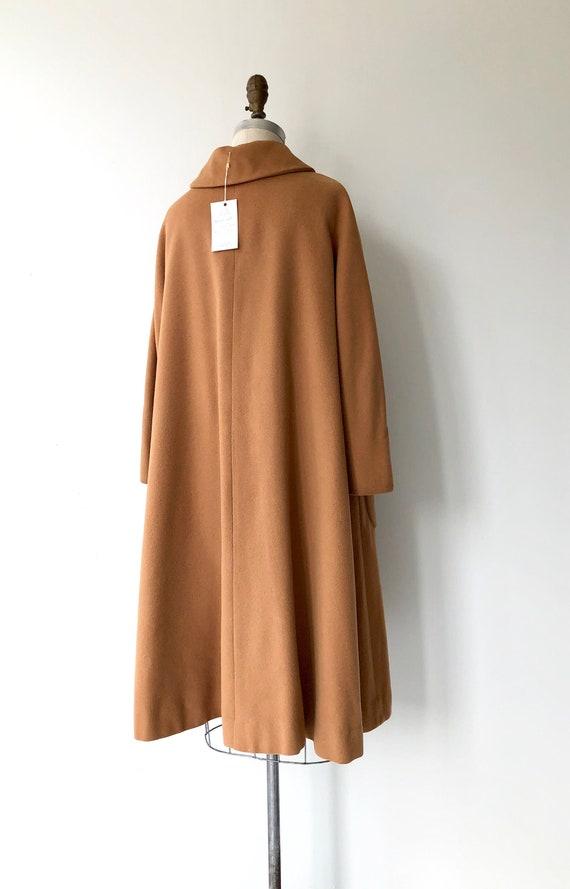 Toffee cashmere coat | 1950s swing coat | vintage… - image 4