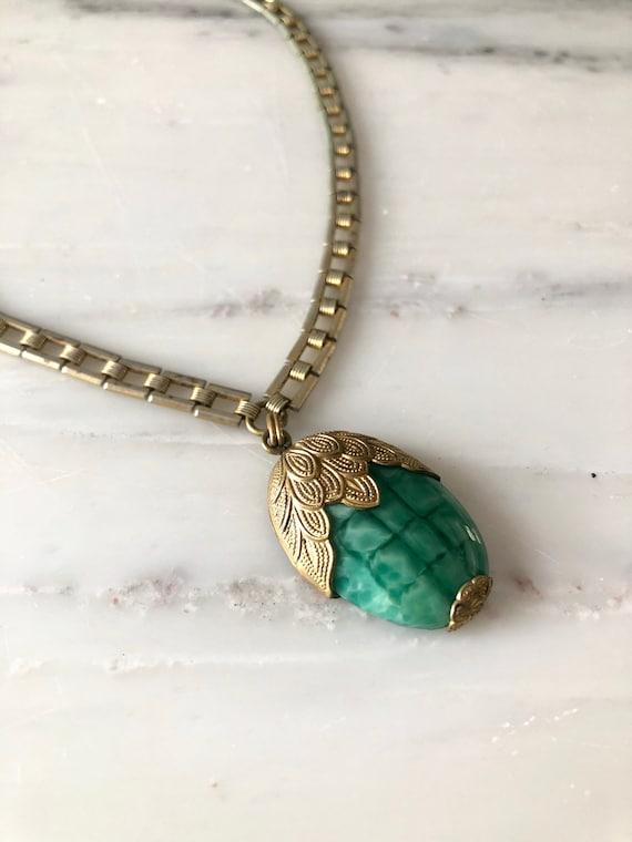 vintage 1930s necklace | 30s glass necklace | 193… - image 7