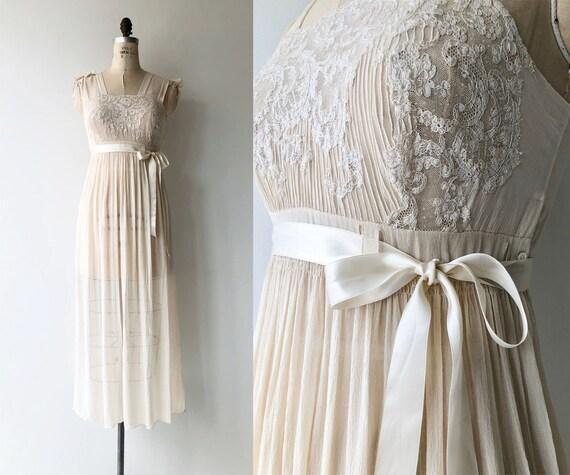 Chantilly silk lingerie | 1900s Edwardian nightgow