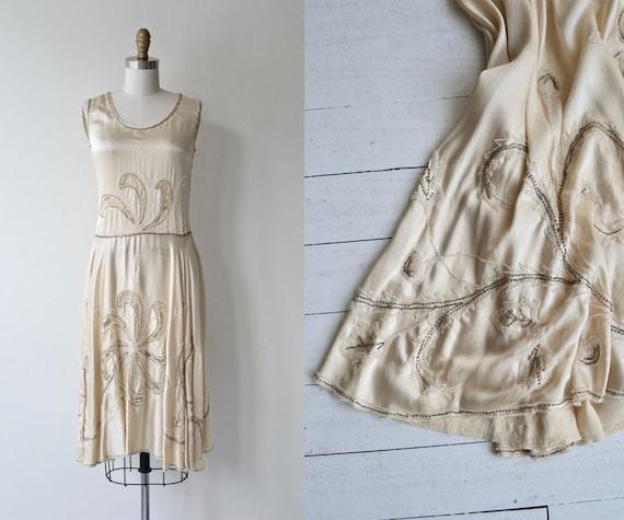 Lusianne silk dress | antique 1920s wedding dress